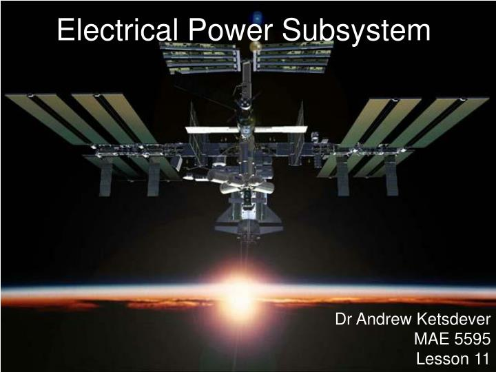 electrical power subsystem n.