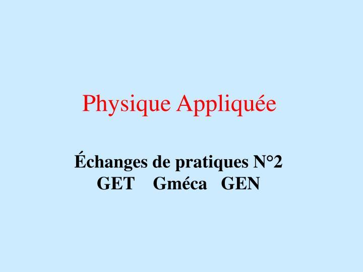 Physique Appliquée