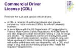 commercial driver license cdl