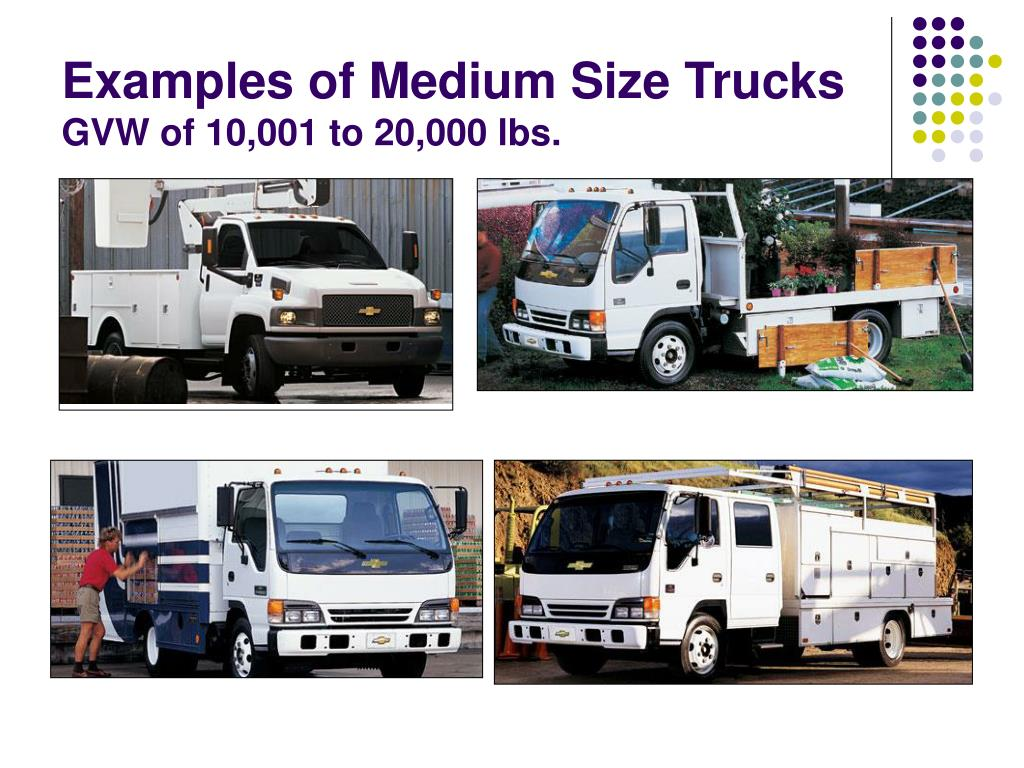 Examples of Medium Size Trucks