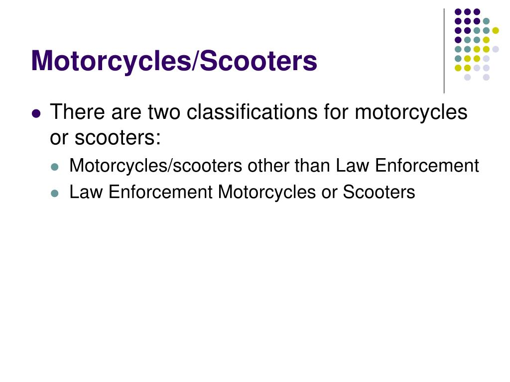 Motorcycles/Scooters