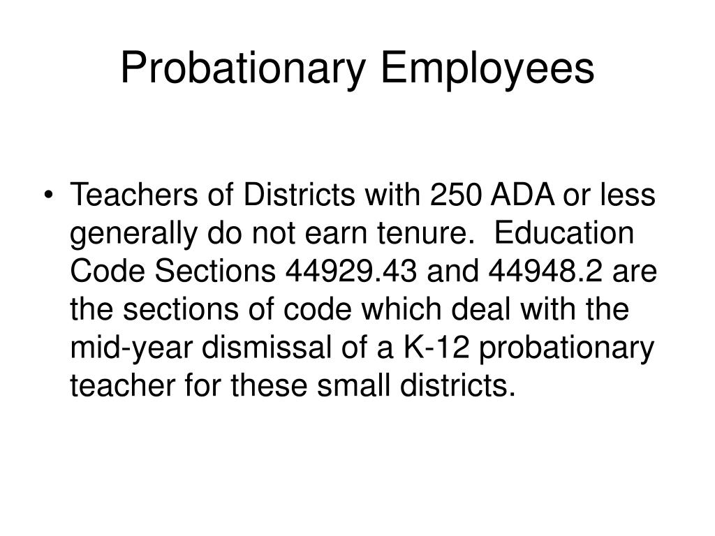 Probationary Employees
