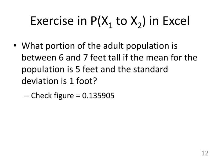 Exercise in P(X