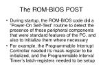 the rom bios post