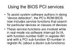 using the bios pci services