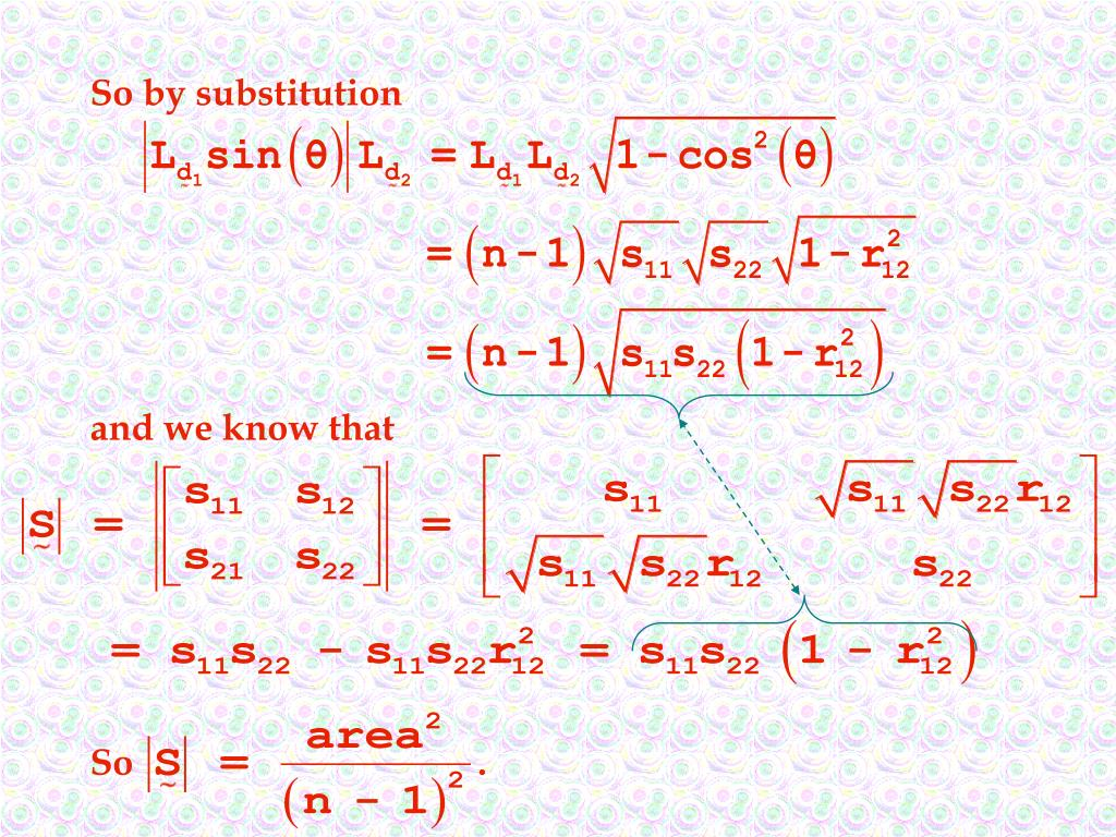 So by substitution