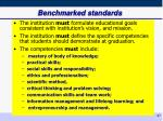 benchmarked standards