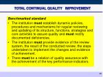 total continual quality improvement