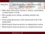 open practice up to direct observation analysis and criticism
