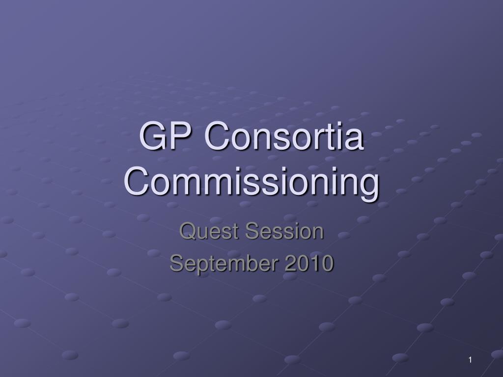 gp consortia commissioning