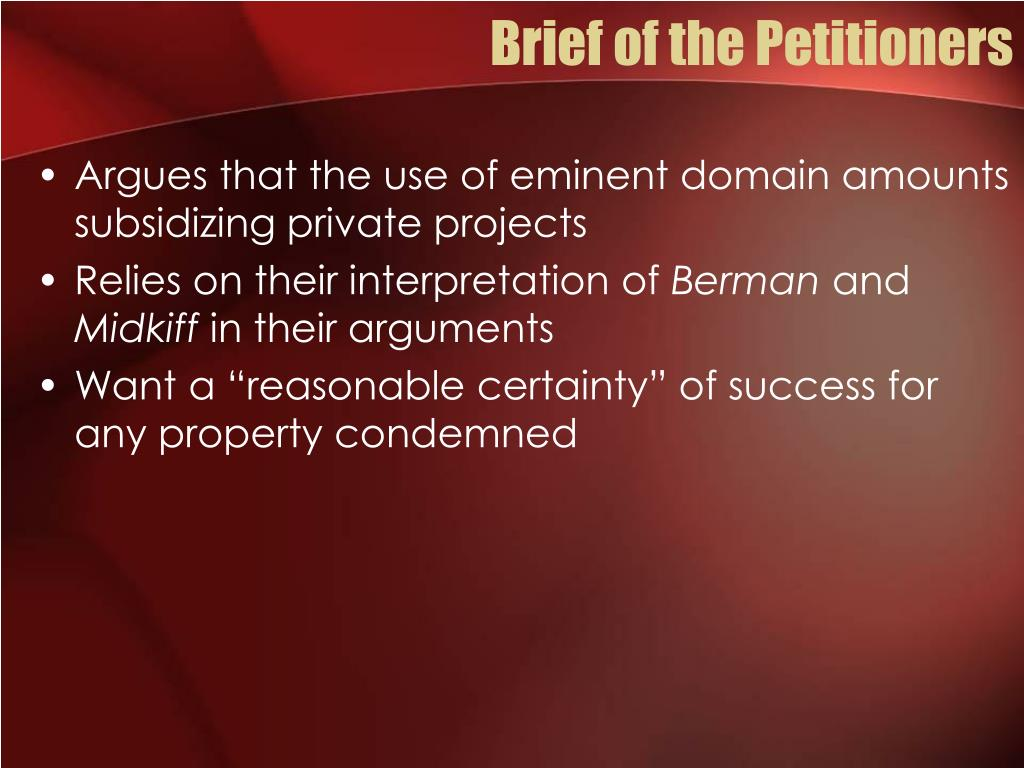 Brief of the Petitioners