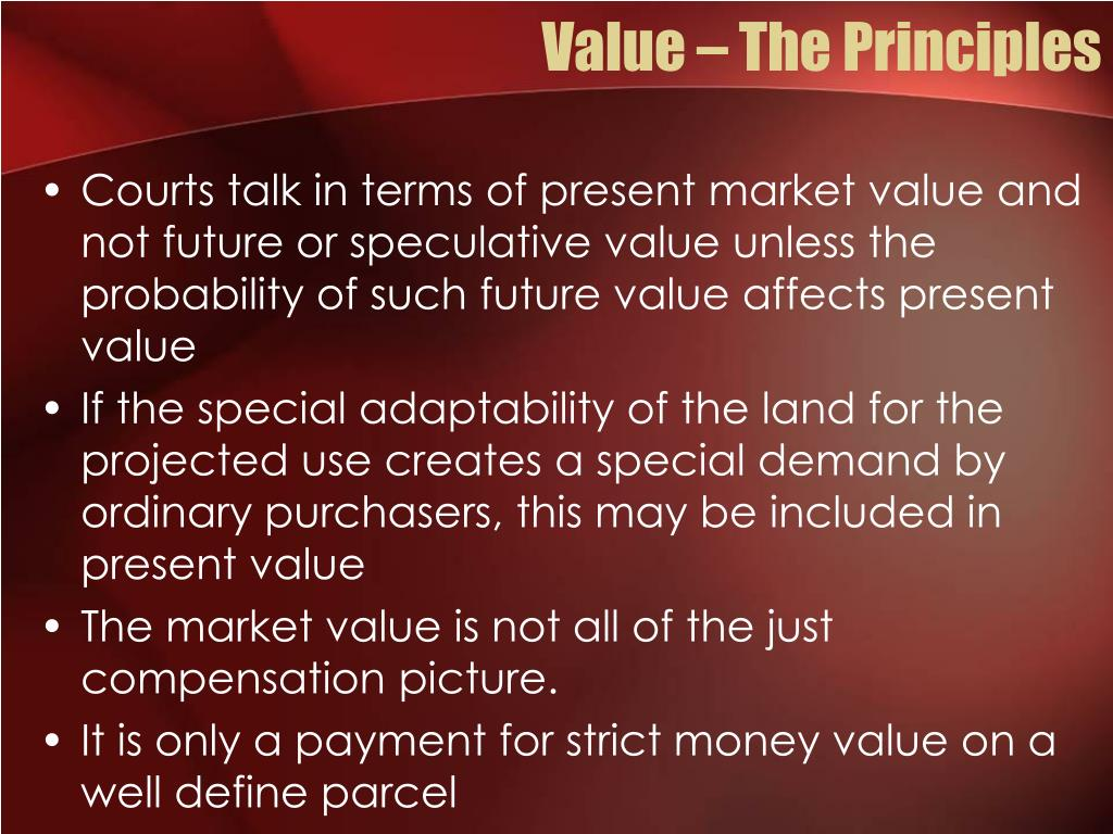 Value – The Principles