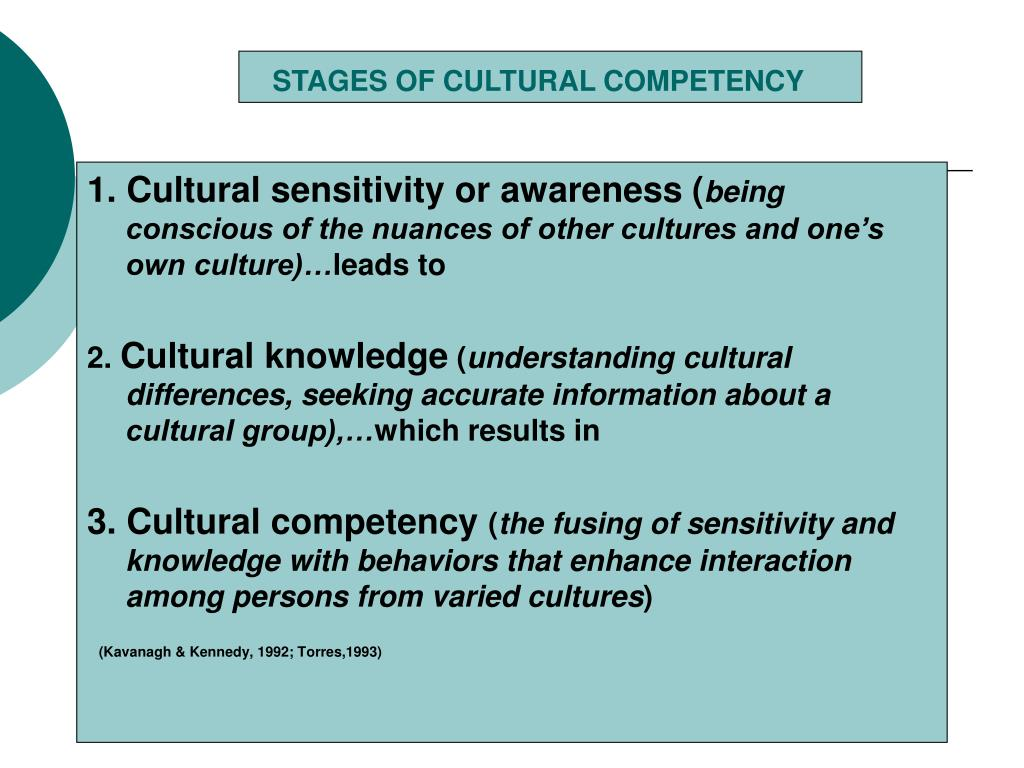 STAGES OF CULTURAL COMPETENCY