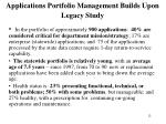 applications portfolio management builds upon legacy study