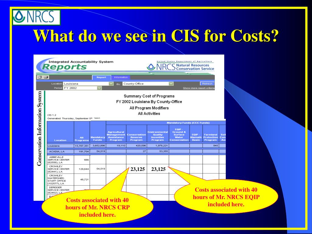 What do we see in CIS for Costs?