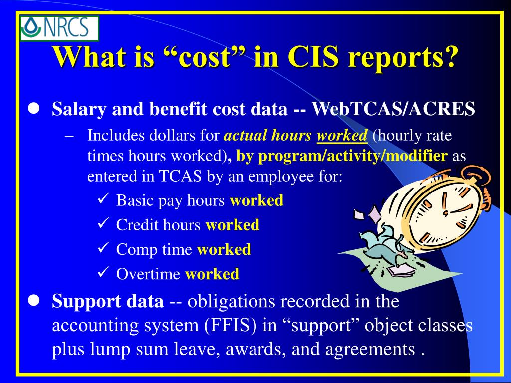 "What is ""cost"" in CIS reports?"