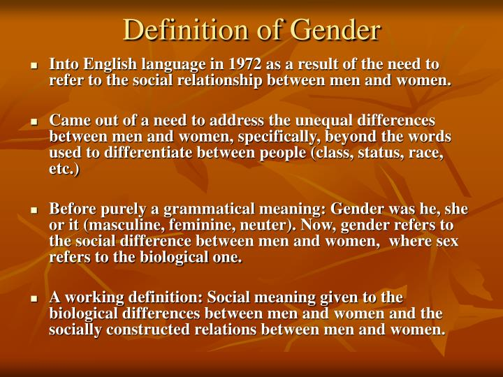 Definition of Gender