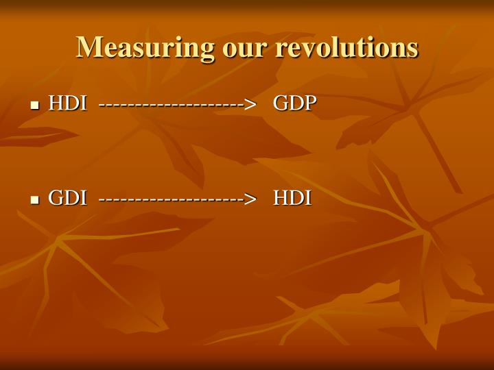 Measuring our revolutions