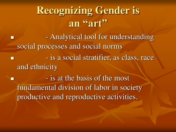 Recognizing Gender is