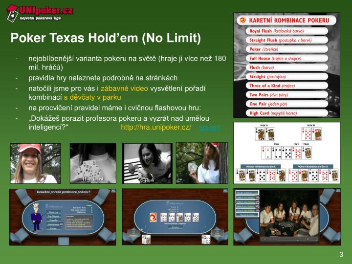 Poker texas hold em no limit