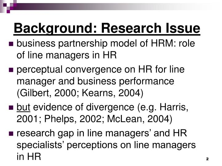 line managers in hrm
