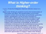what is higher order thinking