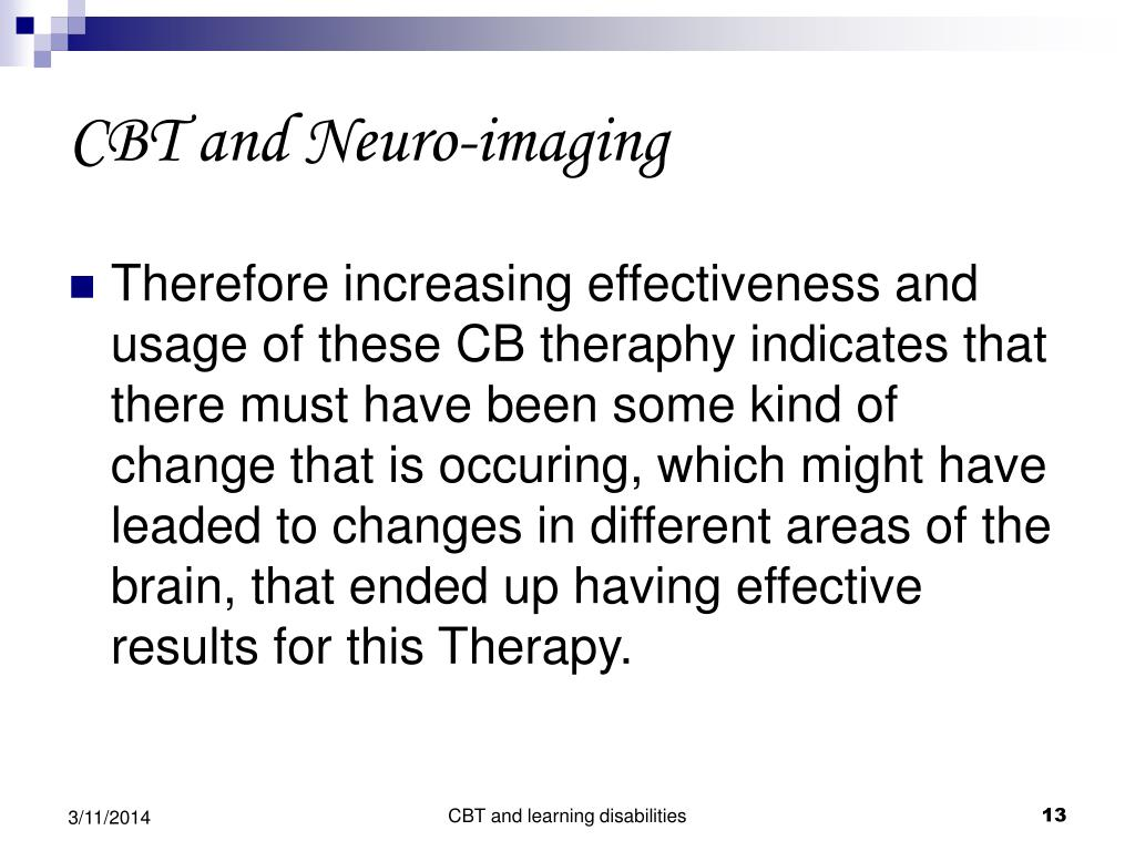 CBT and Neuro-imaging