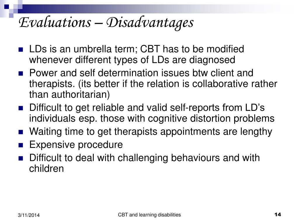Evaluations – Disadvantages