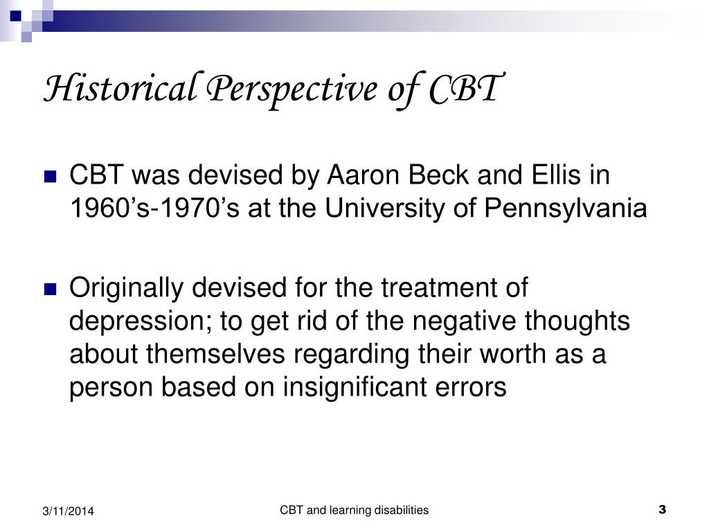 Historical Perspective of CBT