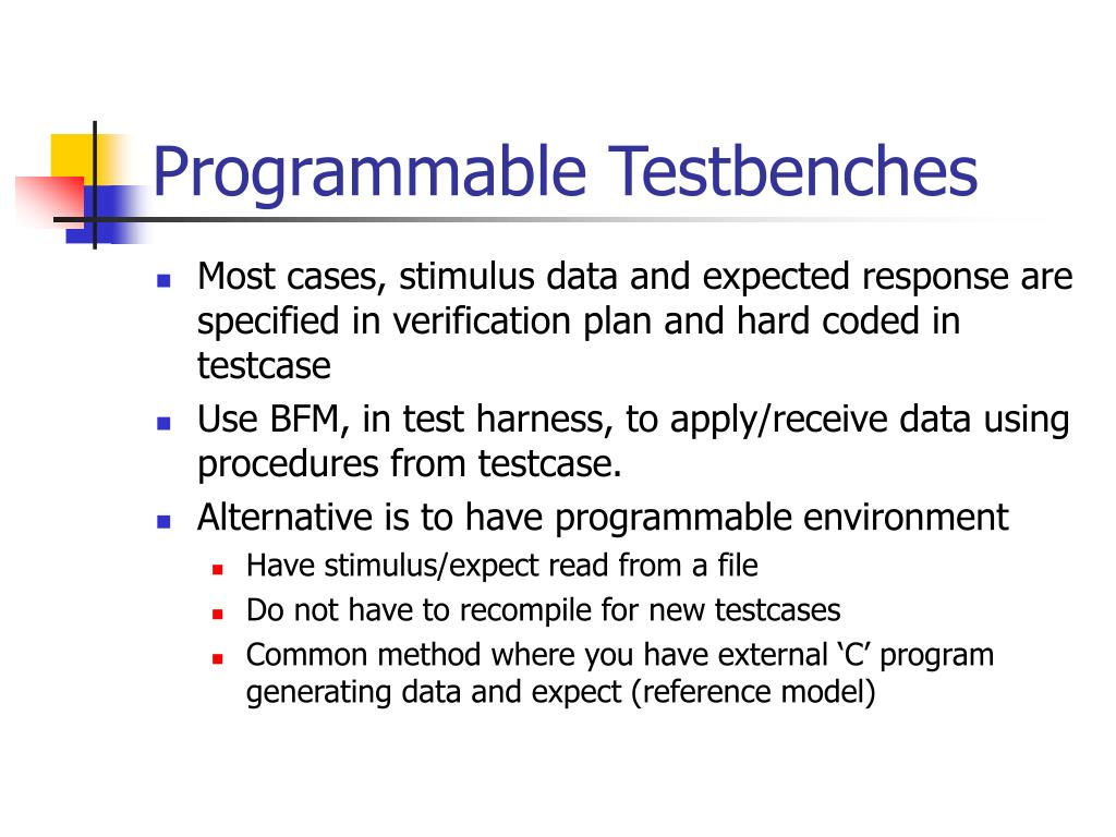 Programmable Testbenches