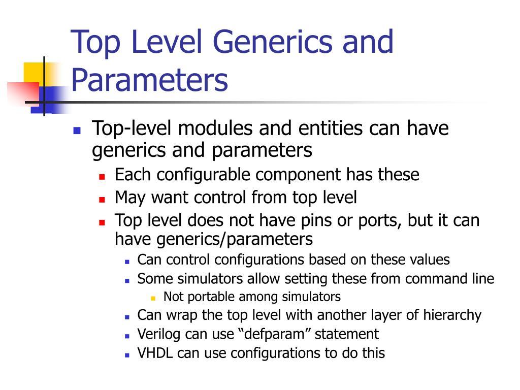 Top Level Generics and Parameters