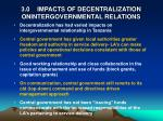 3 0 impacts of decentralization onintergovernmental relations