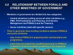 4 0 relationship between poralg and other ministries of government