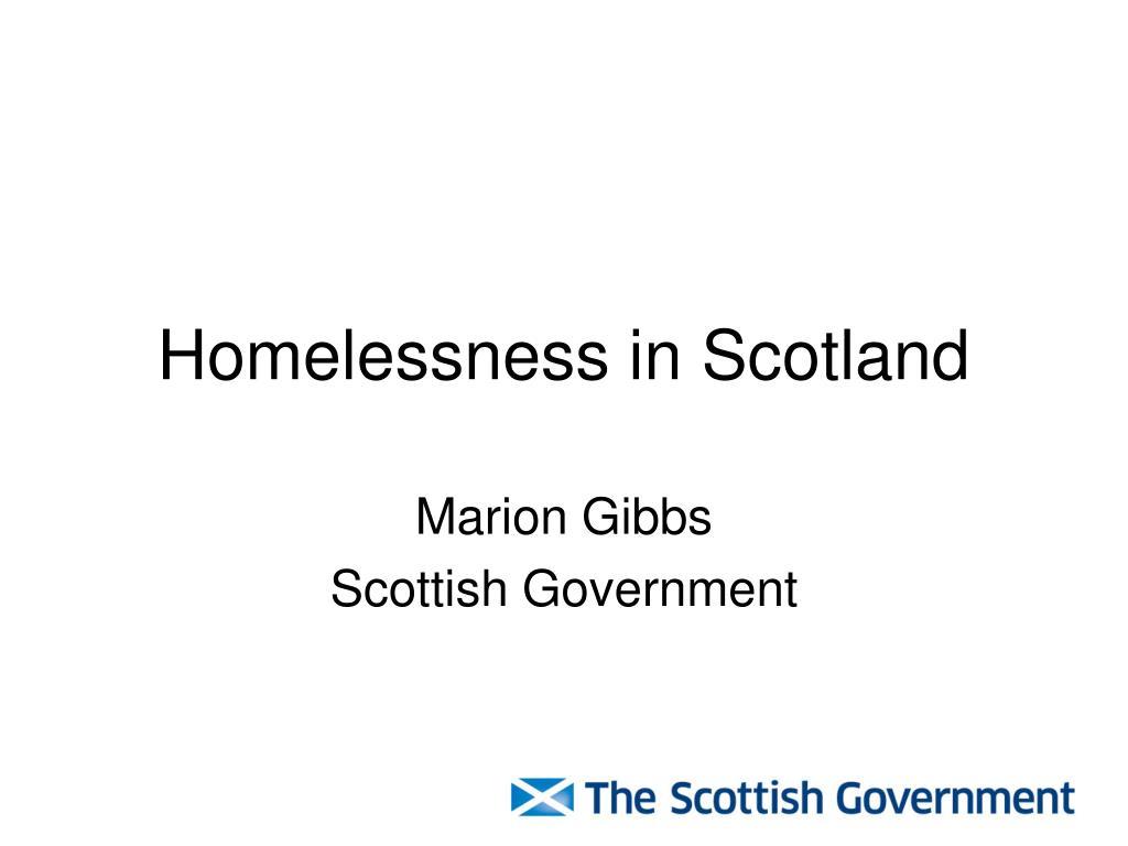 homelessness in scotland l.
