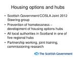 housing options and hubs