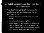 a quick assessment for the busy practitioner