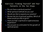 exercise finding yourself and your patients in the ten steps128