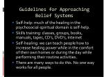 guidelines for approaching belief systems23