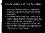 key principles of the ten steps80