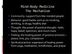 mind body medicine the mechanism