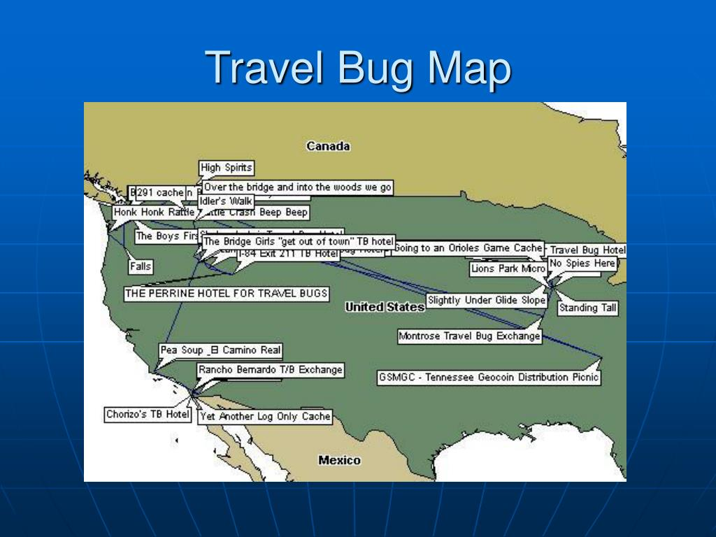 Travel Bug Map