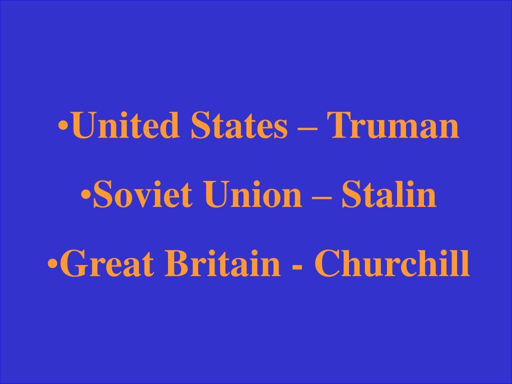 United States – Truman