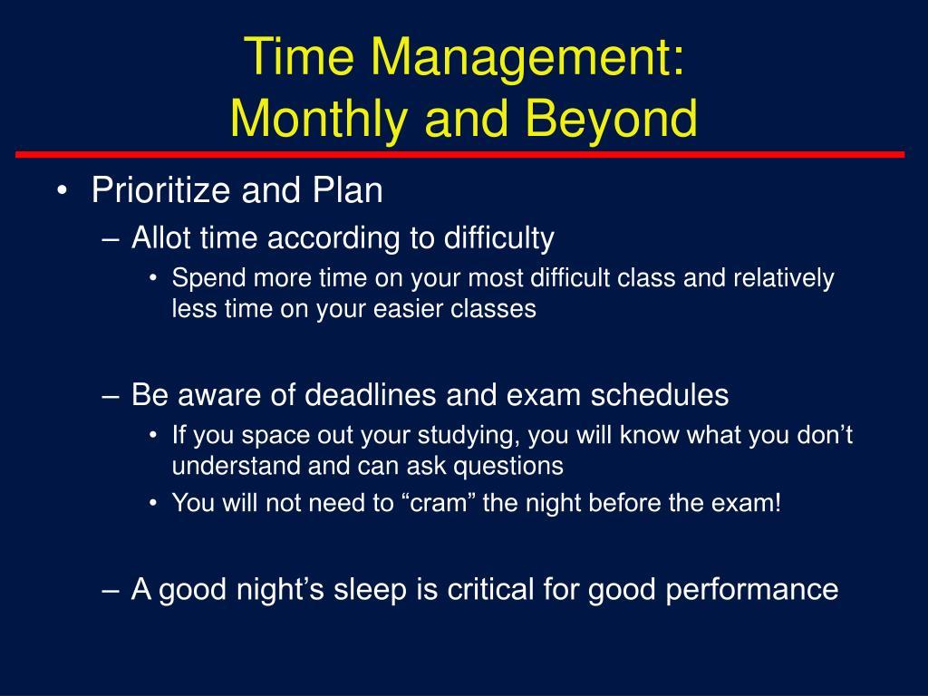 Time Management: