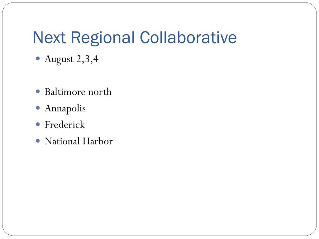 Next Regional Collaborative