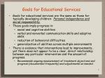 goals for educational services