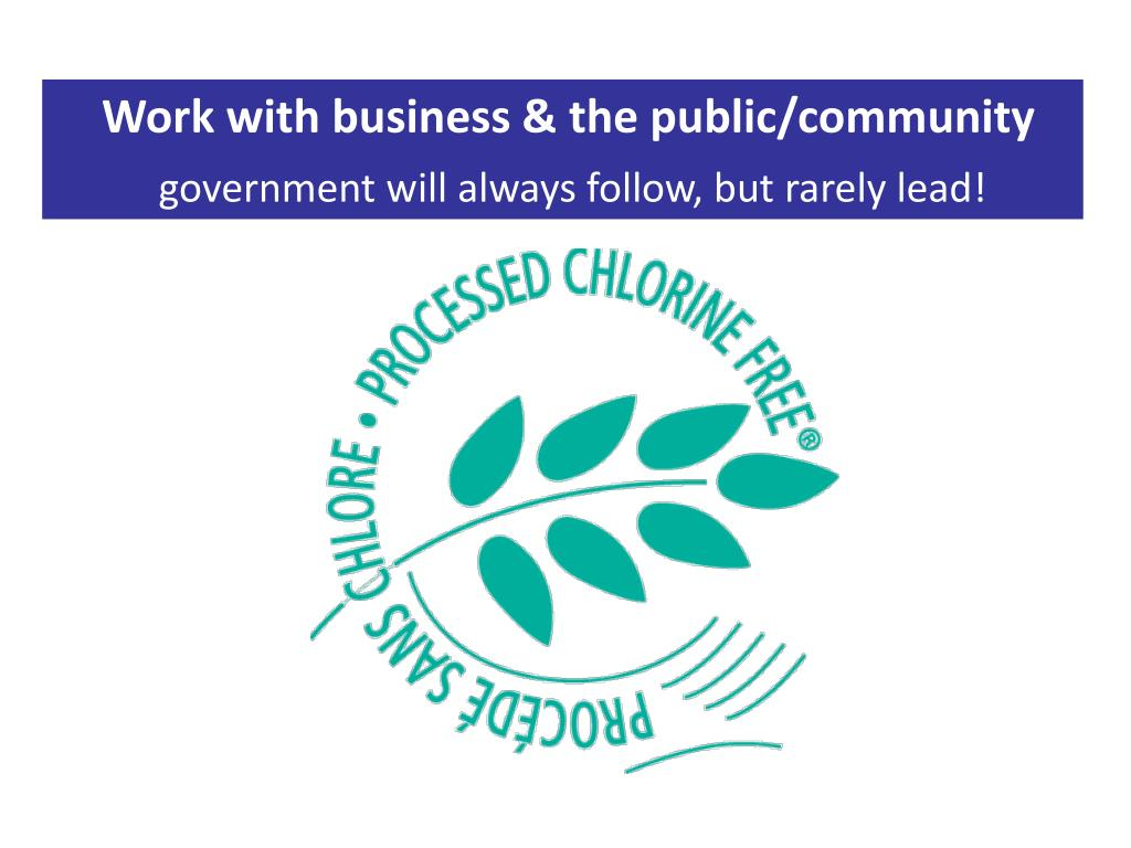 Work with business & the public/community
