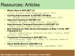 resources articles