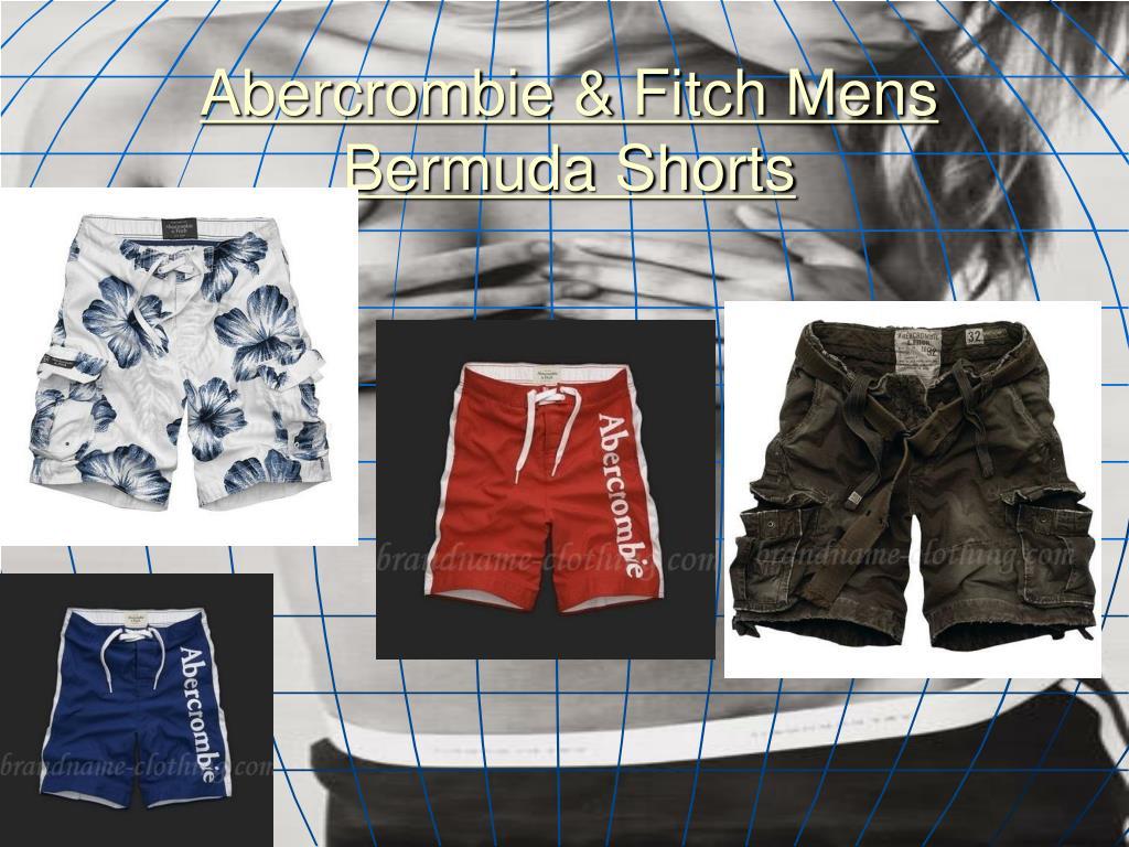abercrombie fitch mens bermuda shorts l.