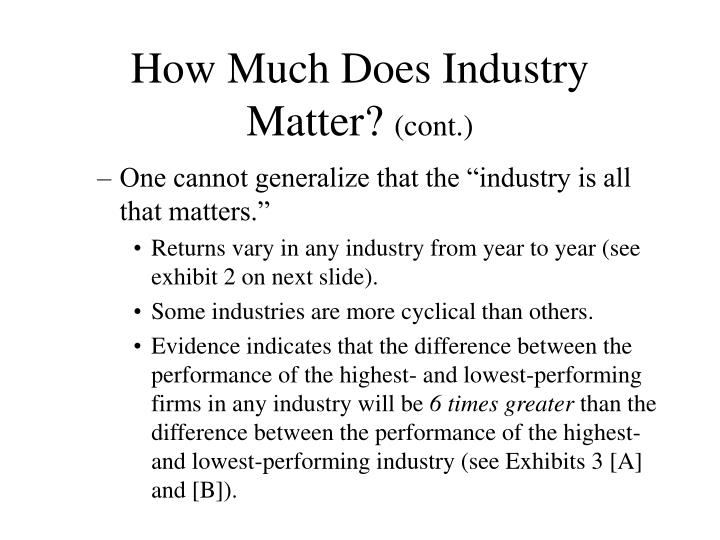 How much does industry matter cont