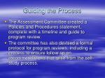 guiding the process